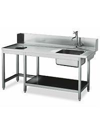 Ulazni i izlazni stolovi za masine za posuđe